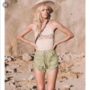 Spell & the Gypsy Collective sage linen shorts